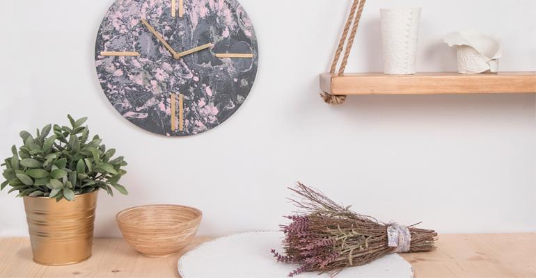 Video tutorial innspiro reloj marmoleado pintura decoración hogar