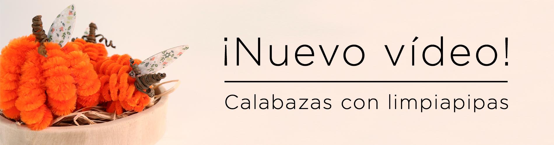 Vídeo tutorial - Calabazas limpiapipas