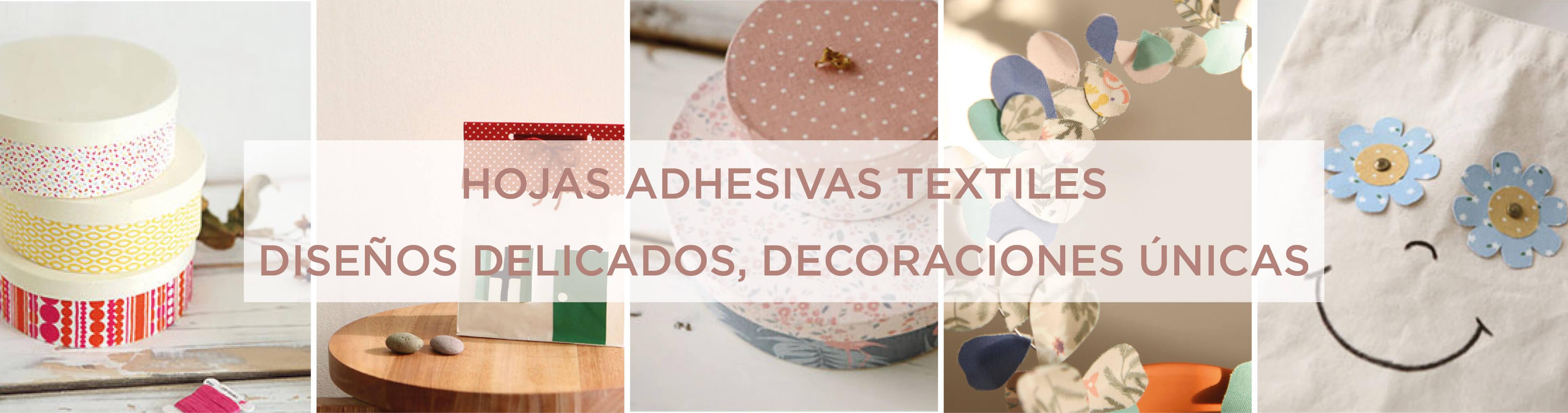 Hojas textiles adhesivas monas