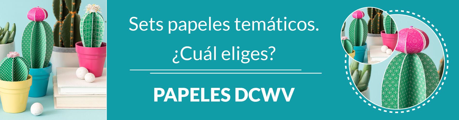 ¡Papeles temáticos DCWV para todos los gustos!
