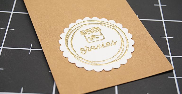 Cómo crear una etiqueta (tag) para el Día de la madre con emboss y sellos