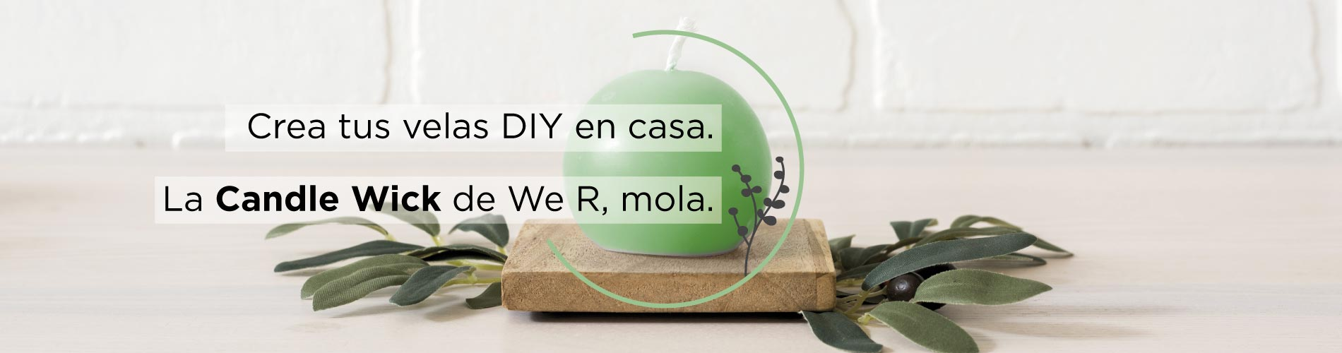 Velas DIY con la Candle Wick de We R