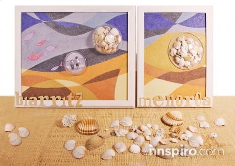 Paso a paso: Crea marcos de viaje con arenas de colores