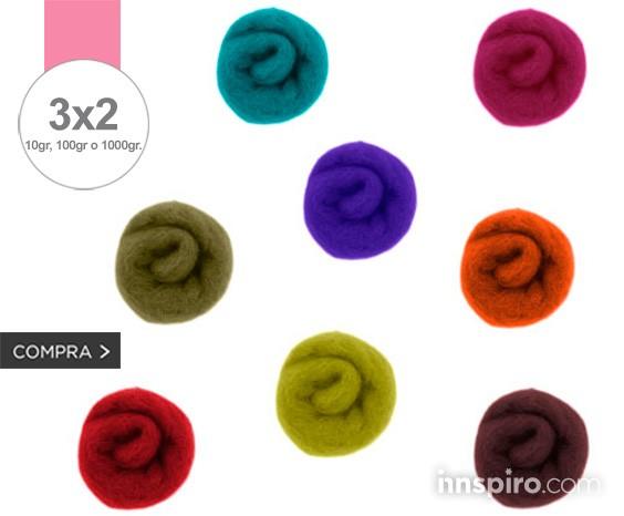 3x2 en todo fieltro de lana natural