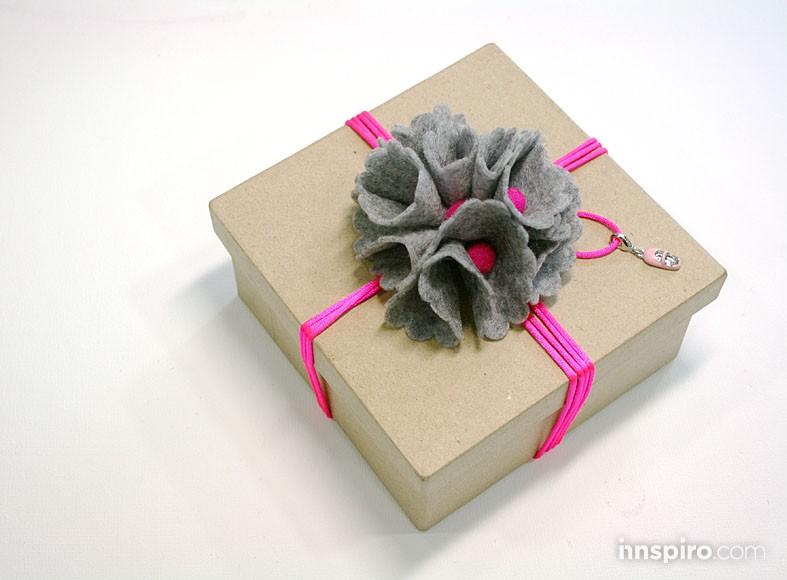 Caja cuadrada Navidad neón