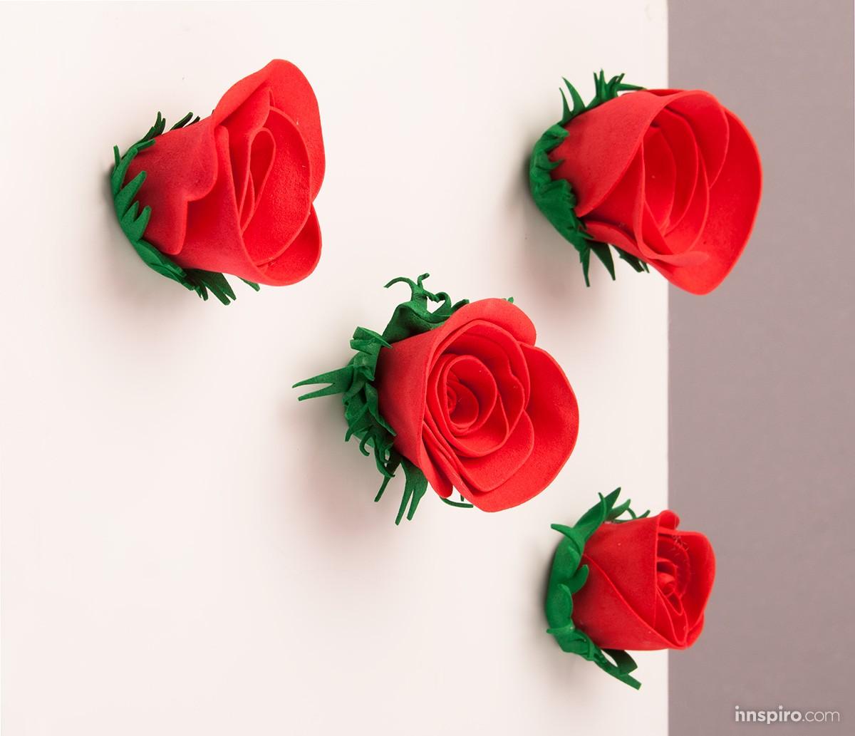 Rosas con imán