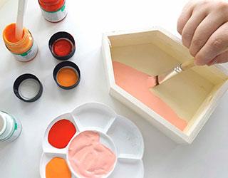 Pintura y rotuladores acrílicos