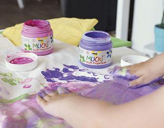 Pintura dedos textil