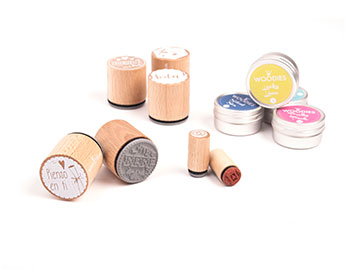 Sellos madera y tintas