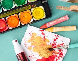 Acuarelas y crayons