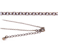 10043-AG 10078-AG Collar metalico dorado envejecido con cierre de muelle circular Innspiro