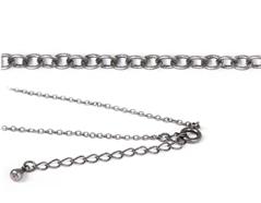 10043-AS 10078-AS Collar metalico plateado envejecido con cierre de muelle circular Innspiro