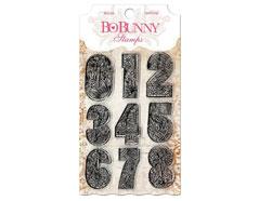 10105030 Set sellos acrilicos numeros 11x19cm BoBunny