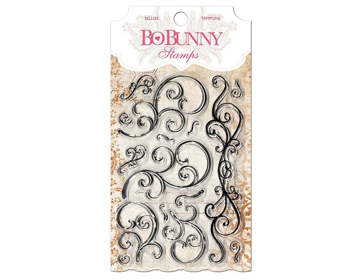 10105031 Set sellos acrilicos florituras 11x19cm BoBunny