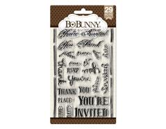 10105033 Set sellos acrilicos invitaciones 11x19cm BoBunny