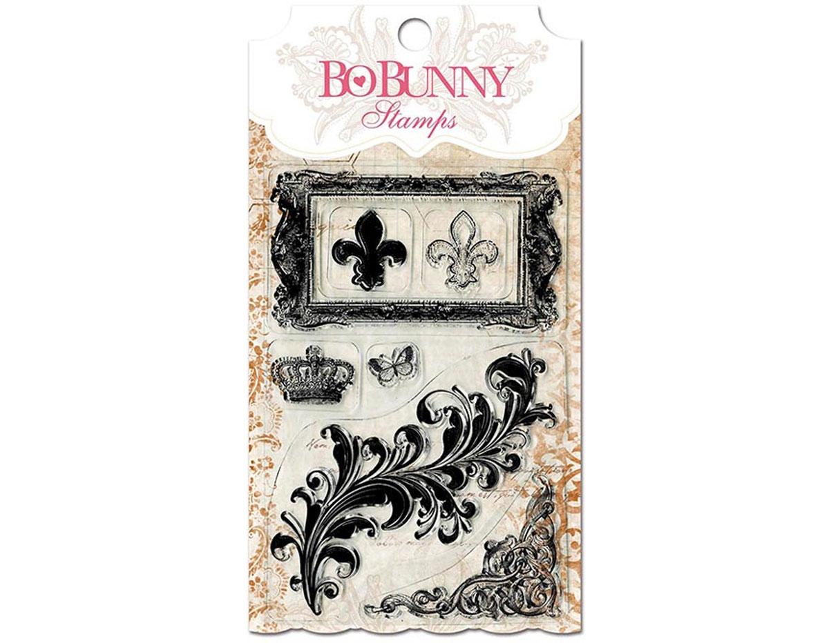 10105757 Set sellos acrilicos florituras majestuosas 11x19cm BoBunny