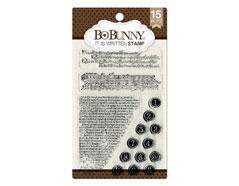 10105759 Set sellos acrilicos esta escrito 11x19cm BoBunny