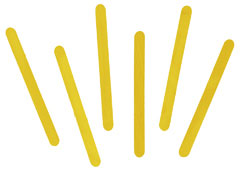 103101 Palos de polo madera amarillo Innspiro