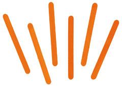 103102 Palos de polo madera naranja Innspiro