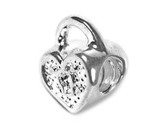 Z11136 11136 Cuenta metalica con rosca DO-LINK corazon candado Innspiro