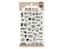 12105030 Set sellos acrilicos iconos diarios 11x19cm BoBunny