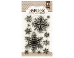 12105156 Set sellos acrilicos copos de nieve 11x19cm BoBunny