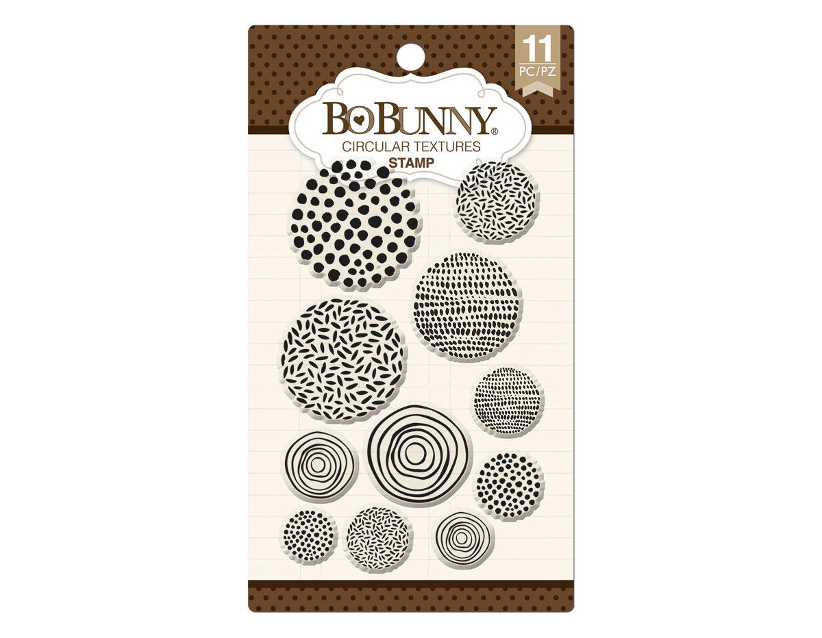 12105289 Set sellos acrilicos circulos decorativos 11x19cm BoBunny
