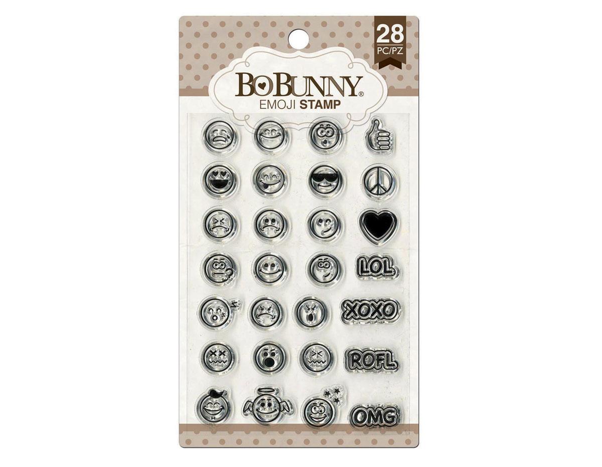 12105437 Set sellos acrilicos emoji 11x19cm BoBunny