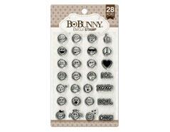12105437 Set sellos acrilicos emoji 11x19cm BoBunny - Ítem