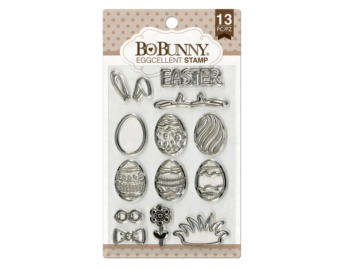 12105443 Set sellos acrilicos huevos Pascua 11x19cm BoBunny