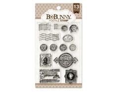 12105445 Set sellos acrilicos sello postal 11x19cm BoBunny