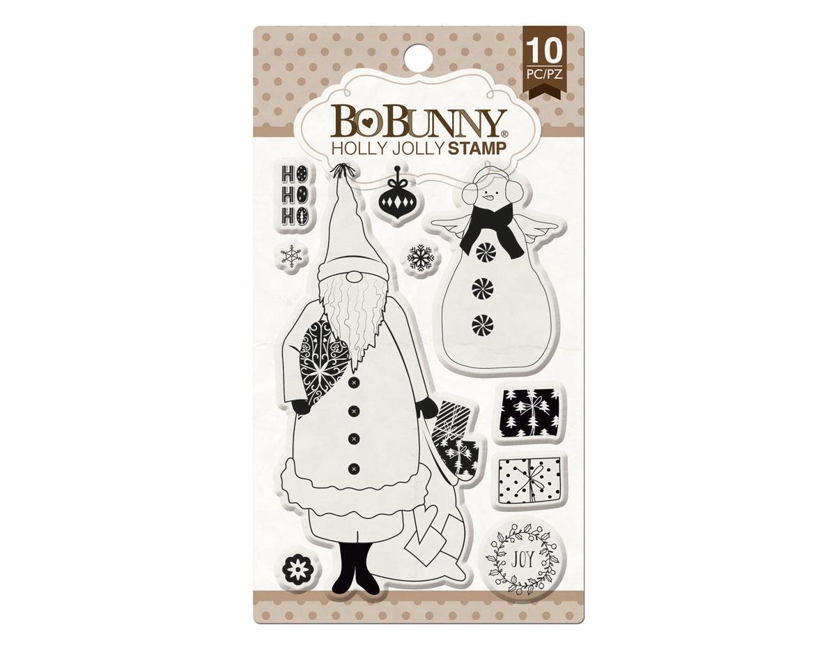 12105768 Set sellos acrilicos alegre Navidad 11x19cm BoBunny