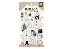 12105768 Set sellos acrilicos alegre Navidad 11x19cm BoBunny - Ítem