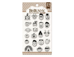 12105774 Set sellos acrilicos emoji festivos 11x19cm BoBunny