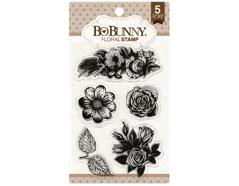 12105894 Set sellos acrilicos floral 11x19cm BoBunny