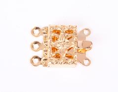 A12117 12117 Cierre metalico collar cuadrado dorado Innspiro