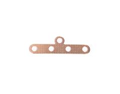 A12126 12126 Barra espaciadora metalica 5 agujeros dorada Innspiro