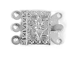 A12317 12317 Cierre metalico collar cuadrado plateado Innspiro