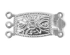A12318 12318 Cierre metalico collar rectangular plateado Innspiro