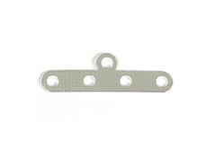 A12326 12326 Barra espaciadora metalica 5 agujeros plateada Innspiro