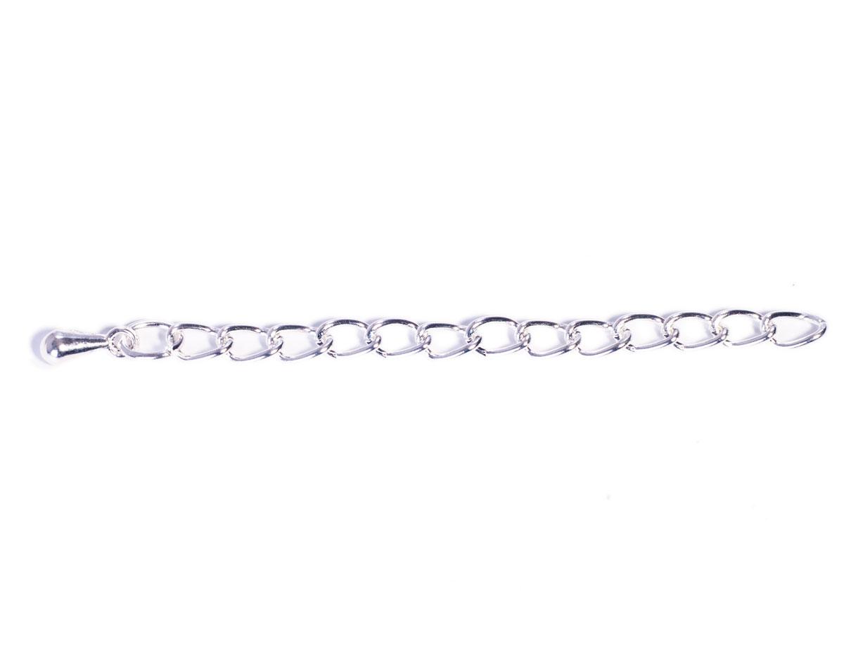 Z12376 A12376 12376 Extension cadena metalica plateada Innspiro
