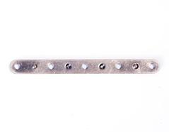 A12525 12525 Barra espaciadora metalica 5 agujeros plateada envejecida Innspiro