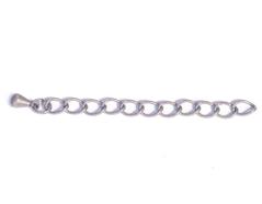 Z12576 A12576 12576 Extension cadena metalica plateada envejecida Innspiro
