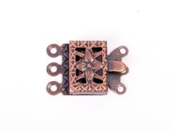 A12717 12717 Cierre metalico collar cuadrado cobrizo envejecido Innspiro