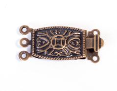 A12918 12918 Cierre metalico collar rectangular dorado envejecido Innspiro