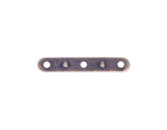 A12924 12924 Barra espaciadora metalica 3 agujeros dorada envejecida Innspiro