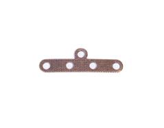 A12926 12926 Barra espaciadora metalica 5 agujeros dorada envejecida Innspiro