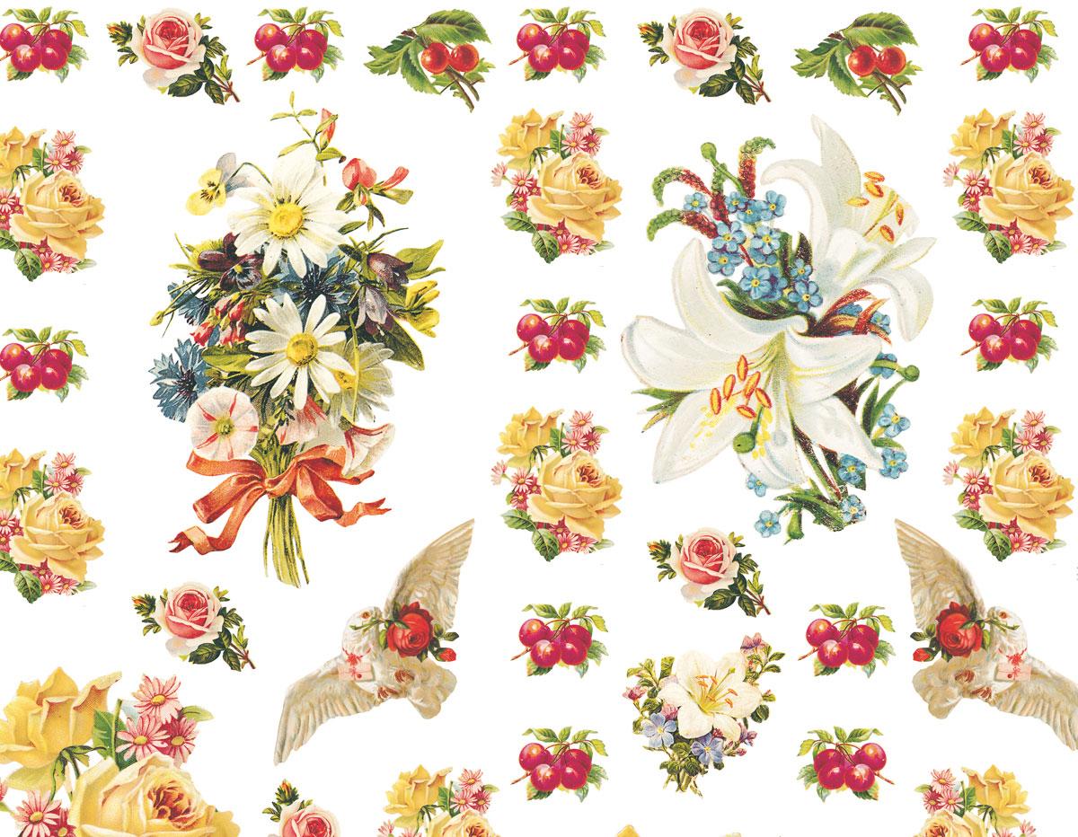 Papel para decoupage flores manualidades 13000 - Papel decoupage infantil ...