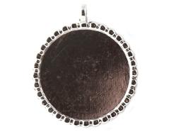 14-48 Colgante metalico redondo plateado Epiphany Crafts