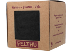 1402 Fieltro de lana negro Felthu